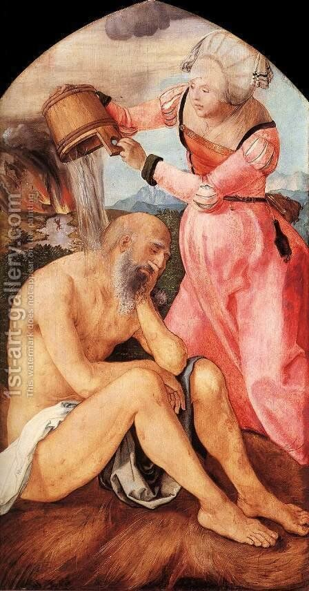 Job And His Wife by Albrecht Durer - Reproduction Oil Painting