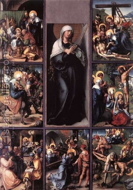 The Seven Sorrows Of The Virgin by Albrecht Durer - Reproduction Oil Painting