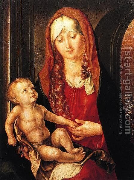 Virgin And Child Before An Archway by Albrecht Durer - Reproduction Oil Painting