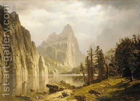 Merced River  Yosemite Valley by Albert Bierstadt - Reproduction Oil Painting