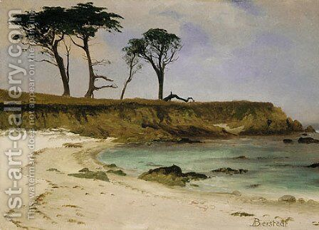 Sea Cove by Albert Bierstadt - Reproduction Oil Painting