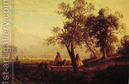 Wind River Mountains Nebraska Territory by Albert Bierstadt - Reproduction Oil Painting