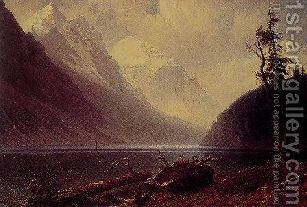 Lake Louise by Albert Bierstadt - Reproduction Oil Painting