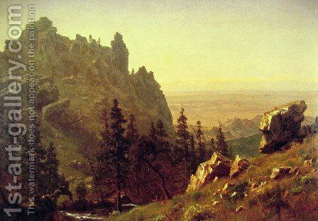 Wind River Country by Albert Bierstadt - Reproduction Oil Painting