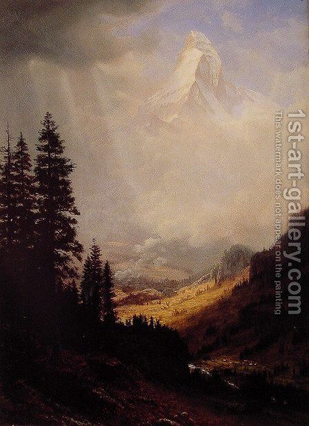 The Matterhorn by Albert Bierstadt - Reproduction Oil Painting