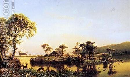 Gosnold At Cuttyhunk 1602 by Albert Bierstadt - Reproduction Oil Painting