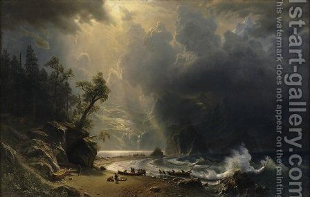 Puget Sound On The Pacific Coast by Albert Bierstadt - Reproduction Oil Painting