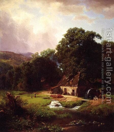 The Old Mill by Albert Bierstadt - Reproduction Oil Painting