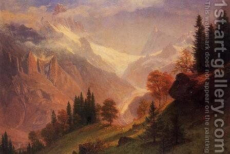 View Of The Grindelwald by Albert Bierstadt - Reproduction Oil Painting