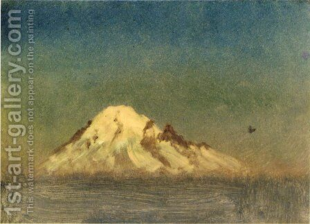 Snow Capped Moutain by Albert Bierstadt - Reproduction Oil Painting