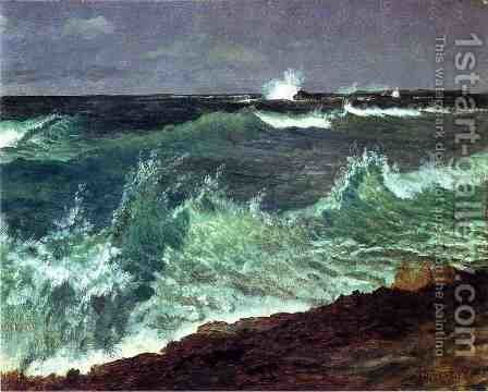 Seascape by Albert Bierstadt - Reproduction Oil Painting