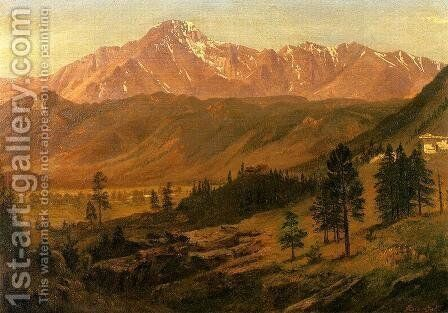 Pikes Peak by Albert Bierstadt - Reproduction Oil Painting
