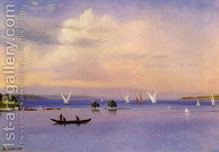 On The Lake by Albert Bierstadt - Reproduction Oil Painting