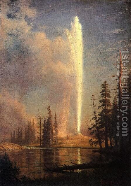 Old Faithful by Albert Bierstadt - Reproduction Oil Painting