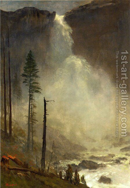 Nevada Falls by Albert Bierstadt - Reproduction Oil Painting