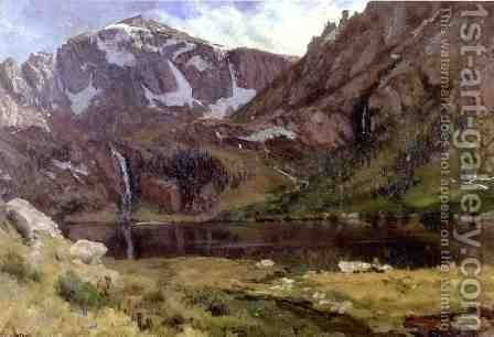 Mountain Lake by Albert Bierstadt - Reproduction Oil Painting