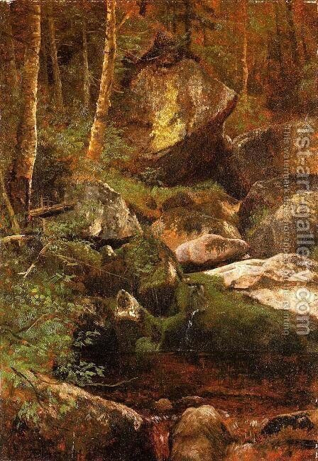 Forest Stream by Albert Bierstadt - Reproduction Oil Painting