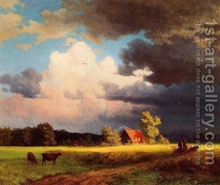 Bavarian Landscape by Albert Bierstadt - Reproduction Oil Painting