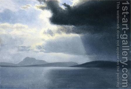 Approaching Thunderstorm On The Hudson River by Albert Bierstadt - Reproduction Oil Painting