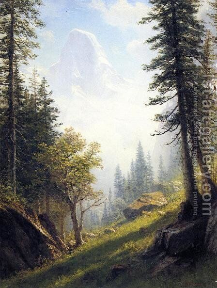 Among The Bernese Alps by Albert Bierstadt - Reproduction Oil Painting