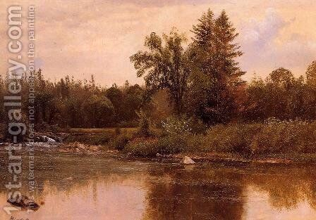 Landscape  New Hampshire by Albert Bierstadt - Reproduction Oil Painting
