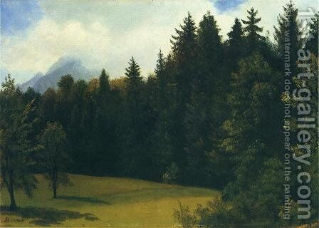 Mountain Resort by Albert Bierstadt - Reproduction Oil Painting