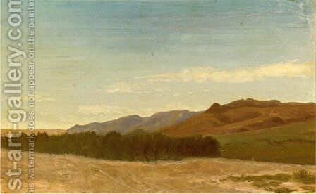 The Plains Near Fort Laramie by Albert Bierstadt - Reproduction Oil Painting