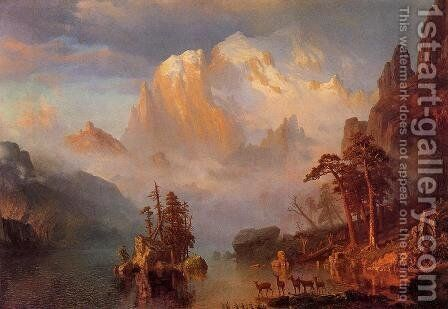 9c052f4dc Rocky Mountains Painting by Albert Bierstadt Reproduction   1st Art ...