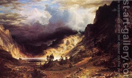 A Storm In The Rocky Mountains  Mr  Rosalie by Albert Bierstadt - Reproduction Oil Painting