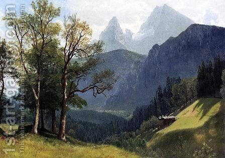 Tyrolean Landscape by Albert Bierstadt - Reproduction Oil Painting