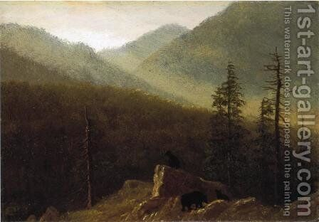 Bears In The Wilderness by Albert Bierstadt - Reproduction Oil Painting
