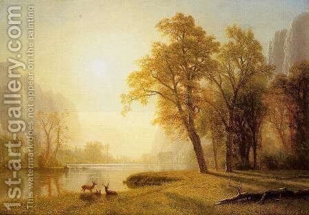 Kings River Canyon  California by Albert Bierstadt - Reproduction Oil Painting