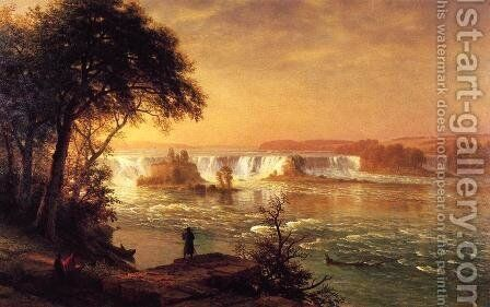The Falls Of St  Anthony by Albert Bierstadt - Reproduction Oil Painting