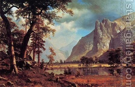 Yosemite Valley by Albert Bierstadt - Reproduction Oil Painting
