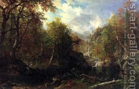 The Emerald Pool by Albert Bierstadt - Reproduction Oil Painting