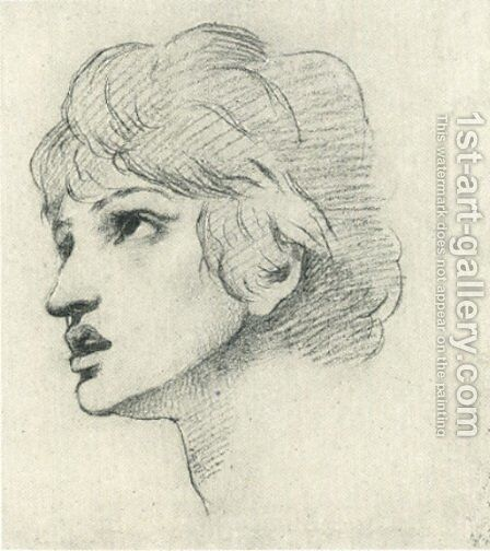 Head Of A Youth by Dante Gabriel Rossetti - Reproduction Oil Painting