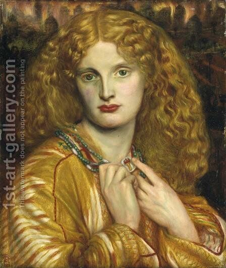 Helen Of Troy by Dante Gabriel Rossetti - Reproduction Oil Painting
