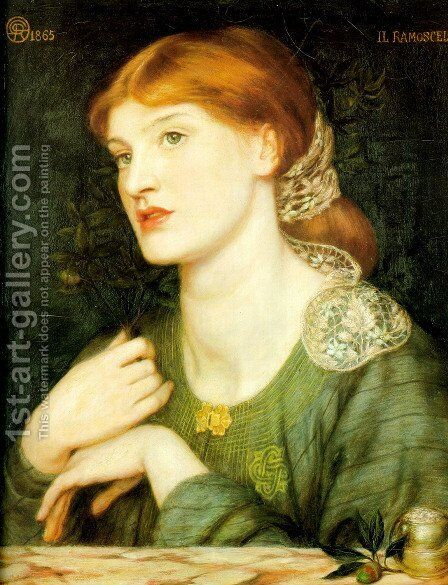 Il Ramoscello 1865 by Dante Gabriel Rossetti - Reproduction Oil Painting
