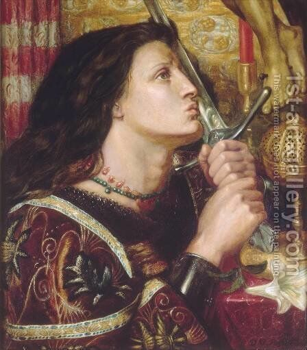 Joan Of Arc2 by Dante Gabriel Rossetti - Reproduction Oil Painting