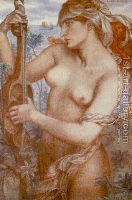 Ligeia Siren by Dante Gabriel Rossetti - Reproduction Oil Painting
