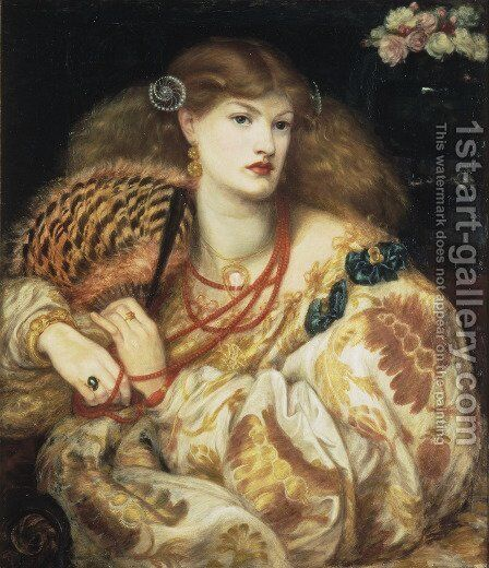Monna Vanna 1866 by Dante Gabriel Rossetti - Reproduction Oil Painting