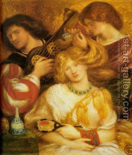 Morning Music by Dante Gabriel Rossetti - Reproduction Oil Painting