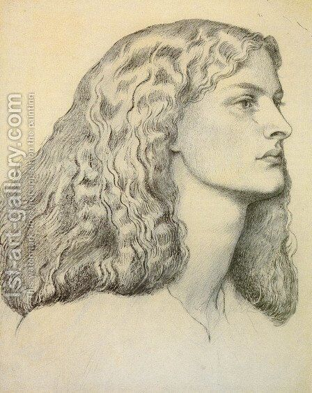 Portrait Of Anne Miller by Dante Gabriel Rossetti - Reproduction Oil Painting