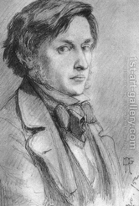 Portrait Of Ford Madox Brown 1852 by Dante Gabriel Rossetti - Reproduction Oil Painting