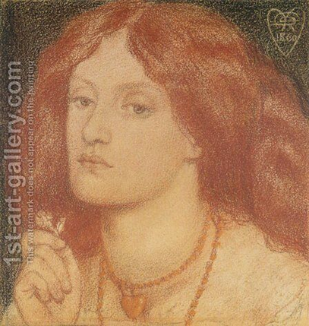 Regina Cordium Or The Queen Of Hearts by Dante Gabriel Rossetti - Reproduction Oil Painting
