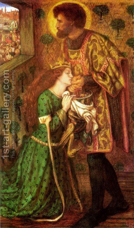 Saint George And The Princess Sabra by Dante Gabriel Rossetti - Reproduction Oil Painting