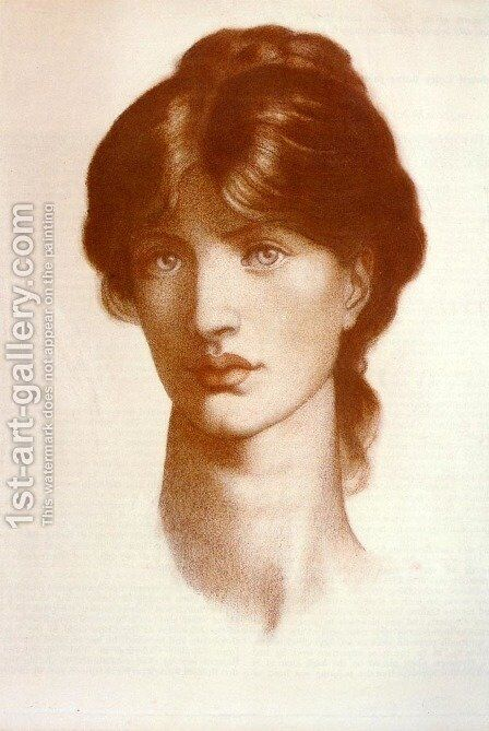 Study For A Vision Of Fiammetta by Dante Gabriel Rossetti - Reproduction Oil Painting