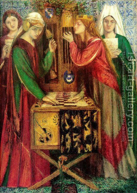 The Blue Closet by Dante Gabriel Rossetti - Reproduction Oil Painting
