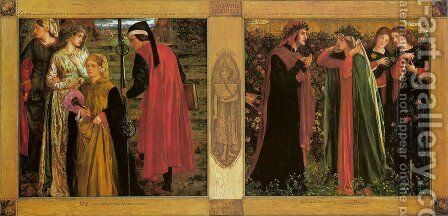 The Salutation Of Beatrice by Dante Gabriel Rossetti - Reproduction Oil Painting