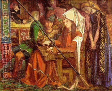 The Tune Of The Seven Towers 1857 by Dante Gabriel Rossetti - Reproduction Oil Painting